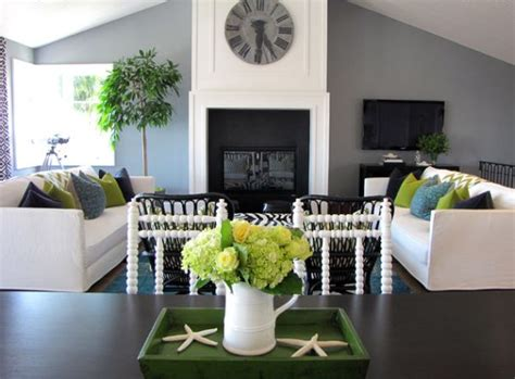 white grey green living room decorating with green 52 modern interiors to accentuate freshness