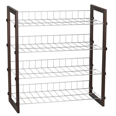 Metal Shoe Shelf by New 4 Tier Shoe Rack Wood Metal For Pairs
