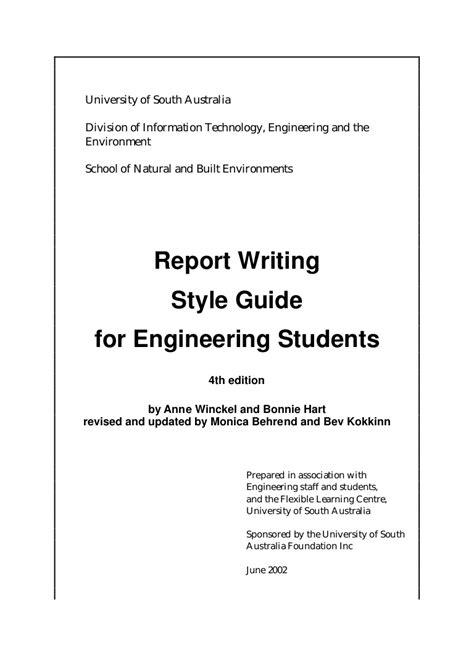 engineering report writing engineering