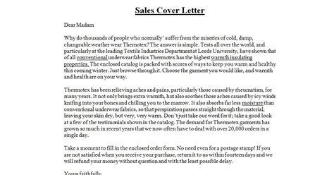 business letter sles sales cover letter