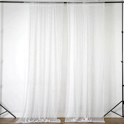10 ft curtains 10 ft x 10 ft sheer lace professional backdrop curtain