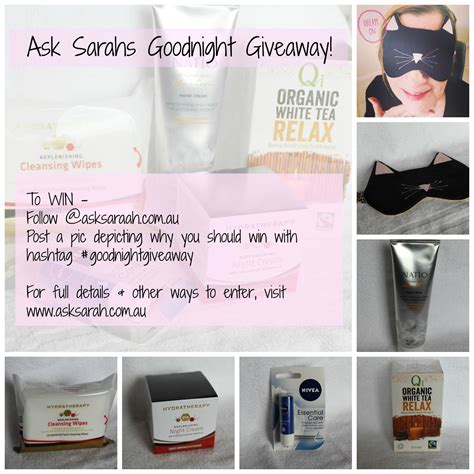 Why Should I Win A Giveaway - goodnight giveaway win a goodnight per pack with your pic ask sarah