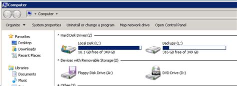 drive c suddenly full windows server 2008 r2 reports wrong hard drive free space