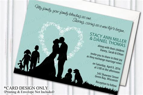 Wedding Vows For Blended Families by Blended Family Wedding Invitation Blending Stepfamily