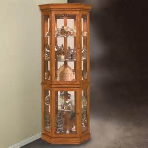 Curio Cabinets Philip Reinisch Company 45951 Lighthouse Collection Classic Oak Corner Curio Cabinet Atg Stores