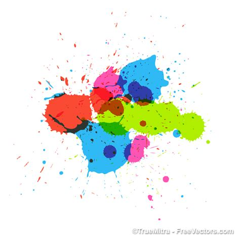 colorful painting splashes vector vector free