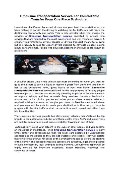 Limousine Transportation Service by Limousine Transportation Service Authorstream