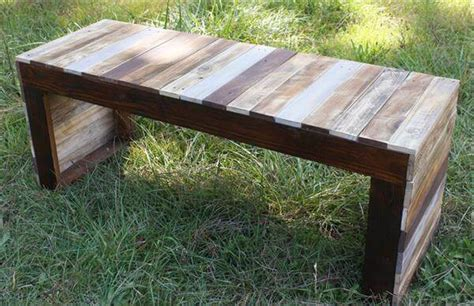 diy reclaimed wood bench recycled pallet wood table or bench 101 pallets