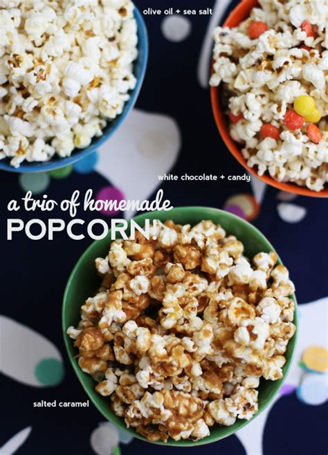 Handmade Popcorn - a trio of popcorn say yes