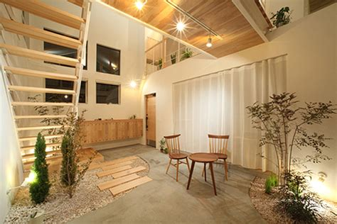 natural lighting home design simple japanese kofunaki house has small trees and shrubs