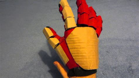 How To Make A Paper Iron Glove - iron repulsor gauntlet cardboard project