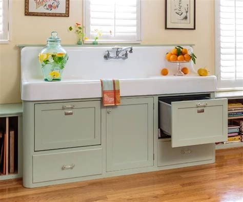 Vintage Kitchen Sink Retro Kitchen Redo Apron Sink Vintage Apron And Custom Cabinets