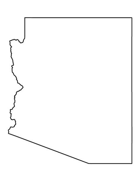 arizona state map outline arizona clipart outline clipground