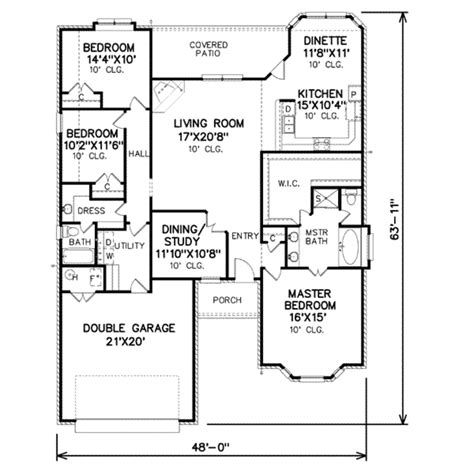 2000 square foot home plans traditional style house plan 3 beds 2 baths 2000 sq ft plan 65 228