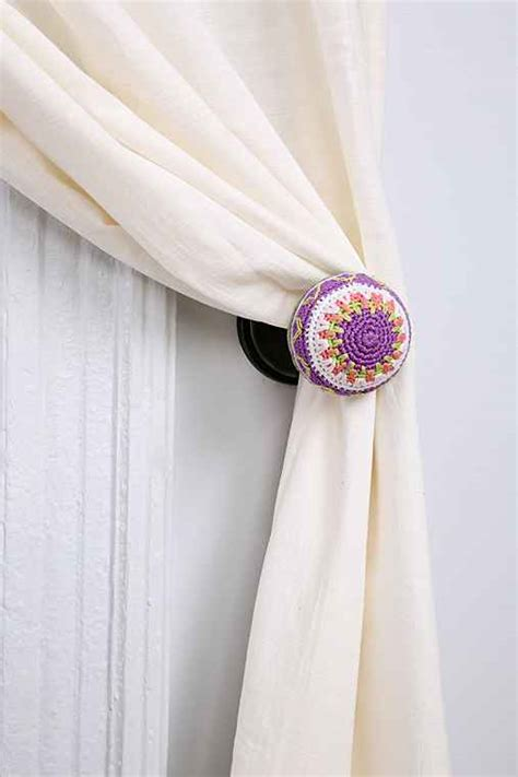 plum curtain tie backs plum bow crochet curtain tie back urban outfitters