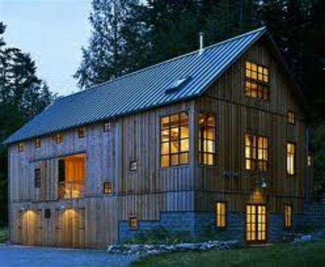two story barn house