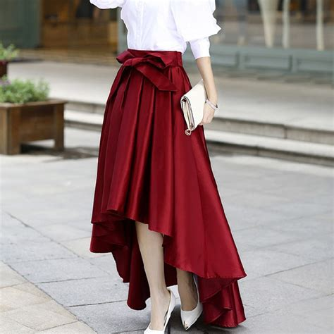 7 Skirts For End Of Summer by 2016 Summer Asymmetrical Skirt Pleated Skirts