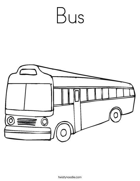 bus coloring page twisty noodle