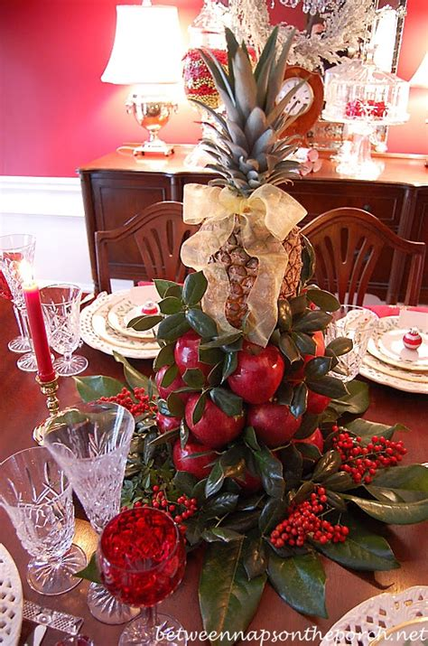 colonial williamsburg table setting with a lemon