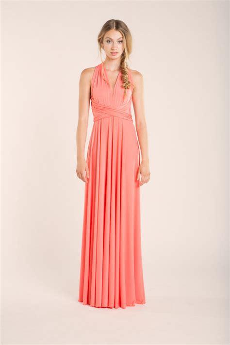 coral bridesmaid dresses convertible bridesmaid dress
