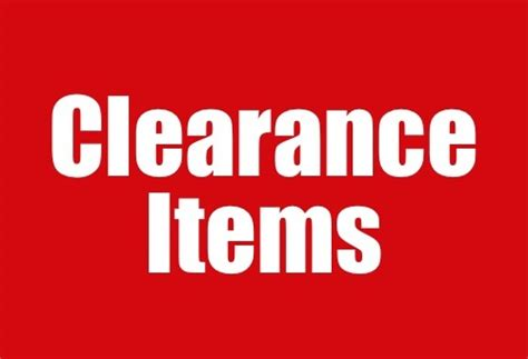 Sle Of Giveaways - clearance sale items