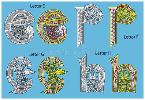 alfabeto celtico lettere alfabeto celtico antico fotografie stock libere da diritti