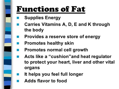 function of healthy fats fats and oils ppt