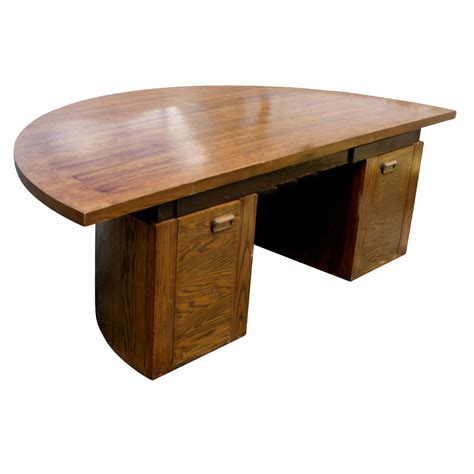 Half Circle Office Desk by Midcentury Retro Style Modern Architectural Vintage