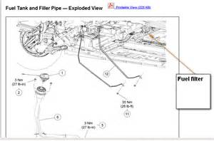 2007 mercury montego diagram the fuel filter and filter