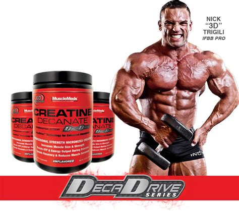 creatine the ergogenic anabolic supplement creatine decanate by musclemeds at bodybuilding best