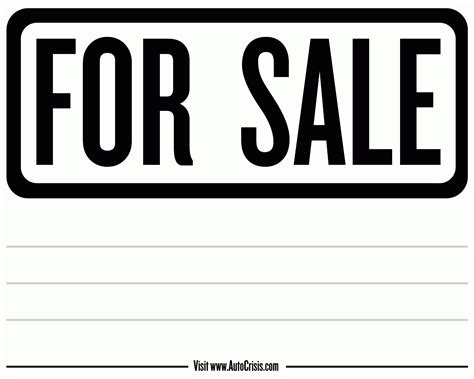 for sale by owner sign template for sale sign template doliquid