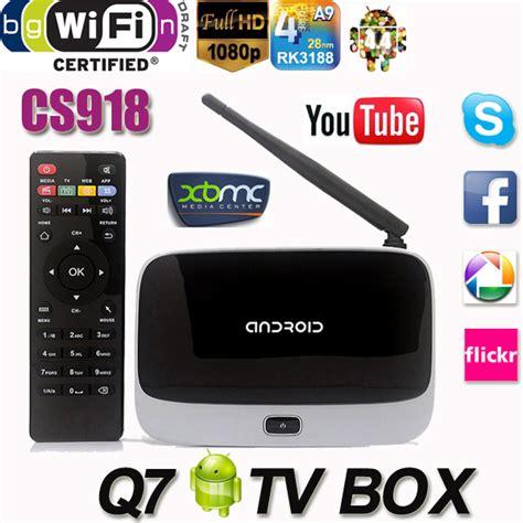 reset q7 android box original android tv box cs918t q7 quad core rk3128t