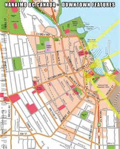 nanaimo downtown road map showing detailed