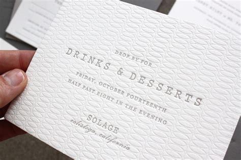 Wedding Invitation Paper by Margaret S Understated Letterpress Wedding