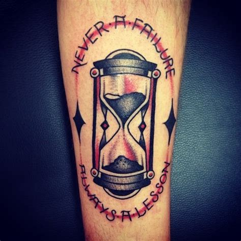 tattoo old school hourglass 60 incredible glass tattoos and ideas