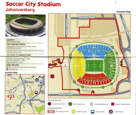 Cape Town Stadium Floor Plan by Soccer City Seating Layout