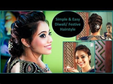 hairstyles videos free download mp4 simple easy diwali festive party updo hairstyle hindi