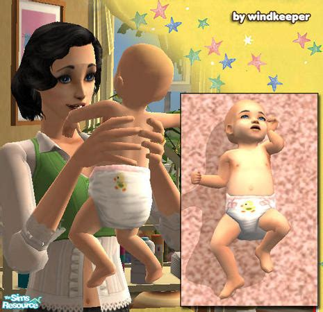sims 4 babies diaper windkeeper s baby diaper ducky pink