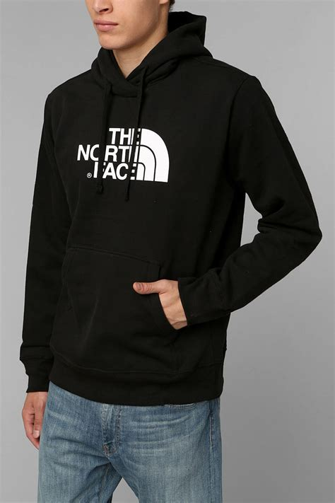 lyst urban outfitters the north face half dome pullover hoodie sweatshirt in black for men