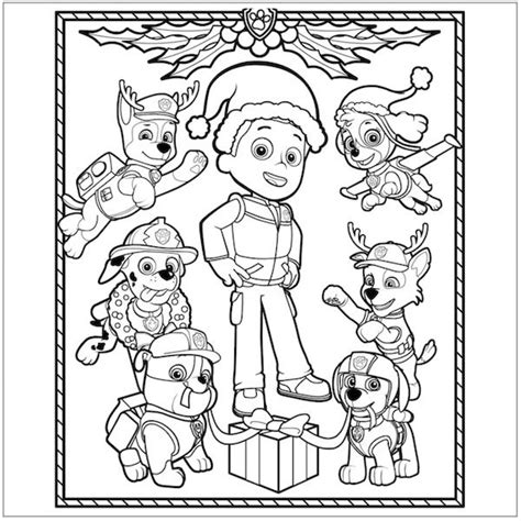 paw patrol winter coloring pages free paw patrol christmas coloring page coloring pages