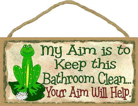 how to keep my bathroom clean frog my aim is to keep this bathroom clean your aim will help