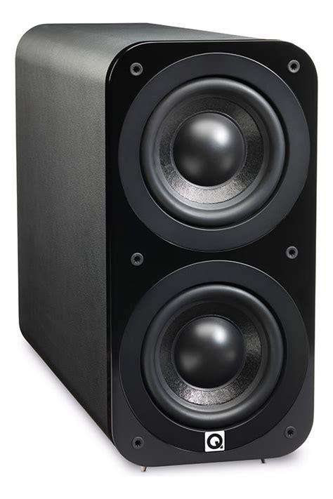 acoustics  black leather subwoofer subwoofers