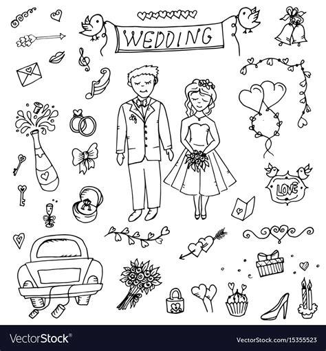 wedding doodle vector free groom wedding doodle royalty free vector image