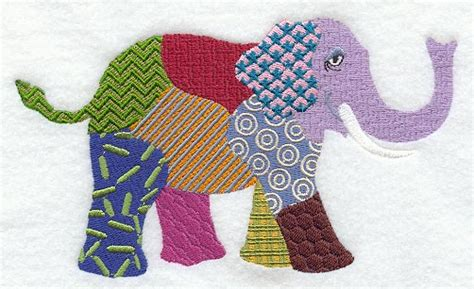 Patchwork Elephant Pattern - machine embroidery designs at embroidery library