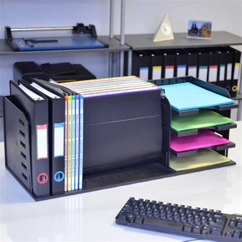 Ultimate Desk Organizer Versafile 5 Divider 3 Shelf Organizer Ultimate Office