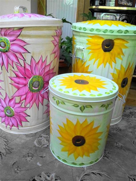 images  hand painted trash cans  pinterest