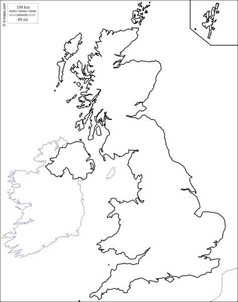 printable map united kingdom free blank map uk