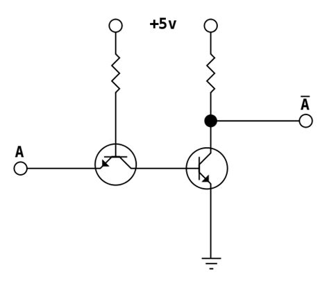 transistor not gate inverter csci 255 building logic gates from transistors