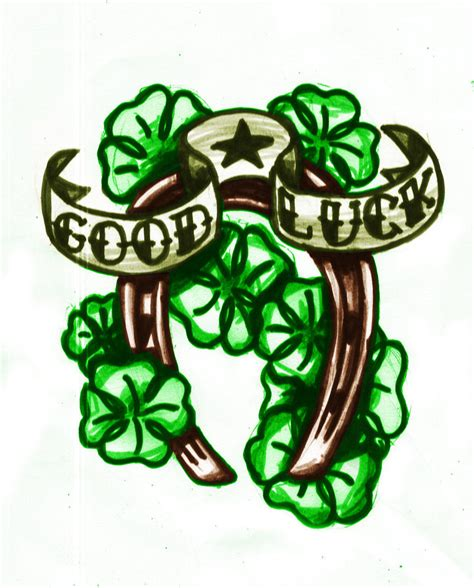 tattoo designs for good luck shamrock luck on shoulder 187 ideas