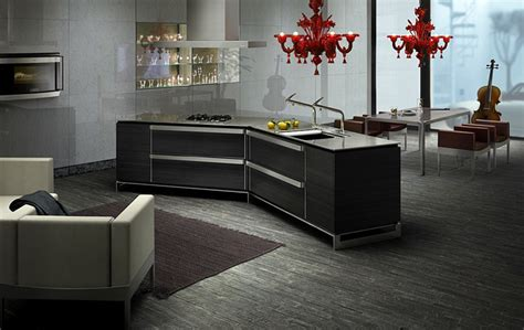dark japanese kitchen designs with innovative island